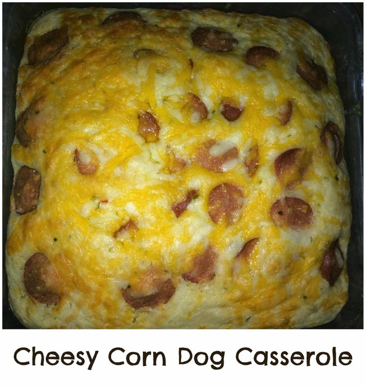 Cheesy Corn Dog Casserole | great recipe ideas | Pinterest