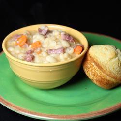 Basic Ham and Bean Soup Allrecipes.com | Soups | Pinterest