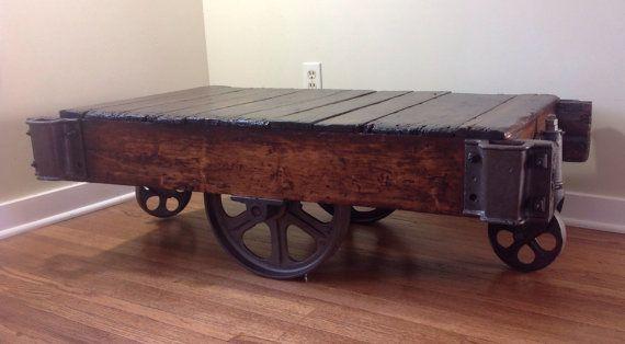 Warehouse Cart Coffee Table By FerrousFurnishings On Etsy