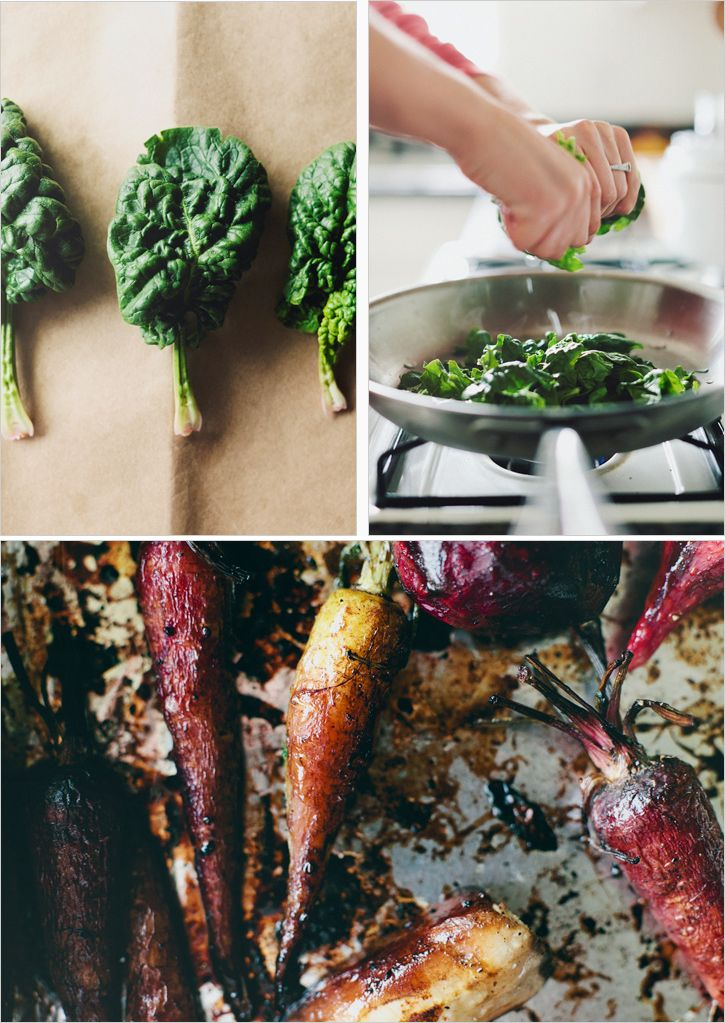 BALSAMIC ROASTED ROOTS + SPINACH SAUCE | Recipes | Pinterest