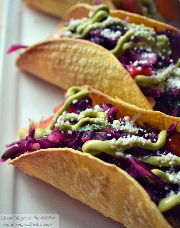 Crunchy Gluten-Free Chicken Tacos with Cabbage-Mango Slaw
