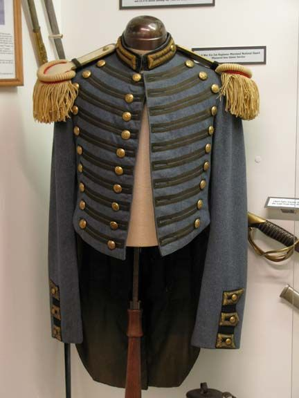 Civil War uniform of the Maryland Military School. These were mustered ...
