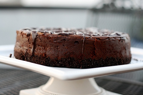 Deep Dark Chocolate Cheesecake recipe | Good Food | Pinterest