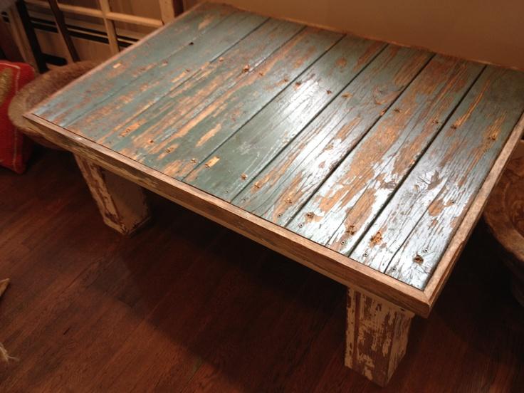 Barn Door Coffee Table Distressed Furniture Pinterest