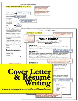 resume and cover letter writing rubric