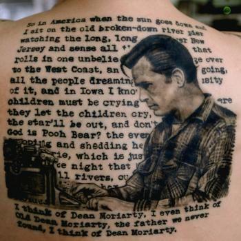 "Previous pinner: ""On the Road - Kerouac tattoo""  Me: eep..."
