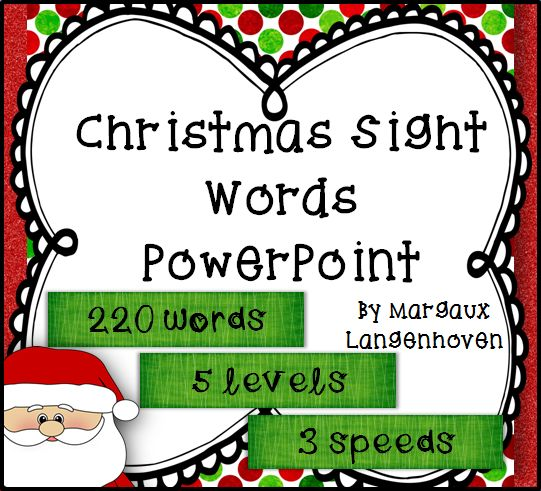 Dolch sight word PowerPoints with a Christmas theme to revise and/or ...: http://pinterest.com/pin/439452876113239619/