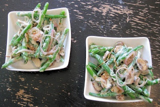 Green Beans with Creamy Mushrooms and Shallots from The Helpful ...