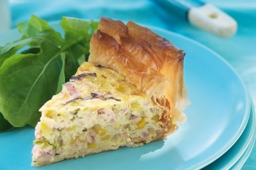 Basil, Bacon And Corn Pie | Bacon....It's Meat Candy! | Pinterest