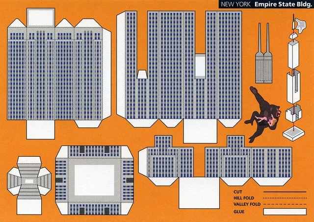 Дом многоэтажный из бумаги схема