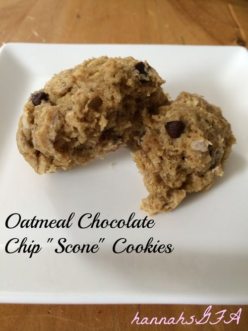 "Oatmeal Chocolate Chip ""Scone"" Cookies - Hannah's Gluten-Free ..."