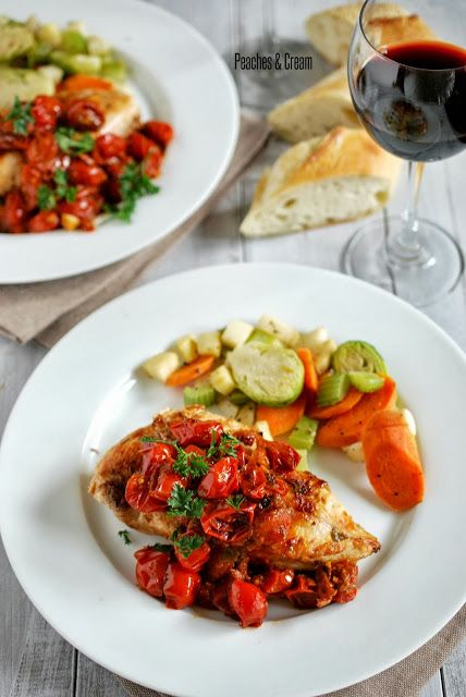 Chicken with Tomato-Herb Pan Sauce | Dinner Ideas | Pinterest