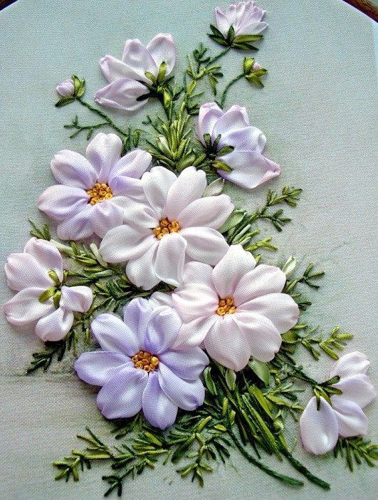 Ribbon Embroidery Flowers  Silk Ribbon Embroidery  Pinterest