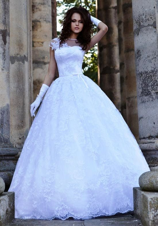 Snow White Wedding Dress By L Fay