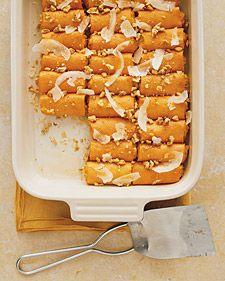 Sweet Potato Canneloni @marthastewart ~ another way to enjoy them