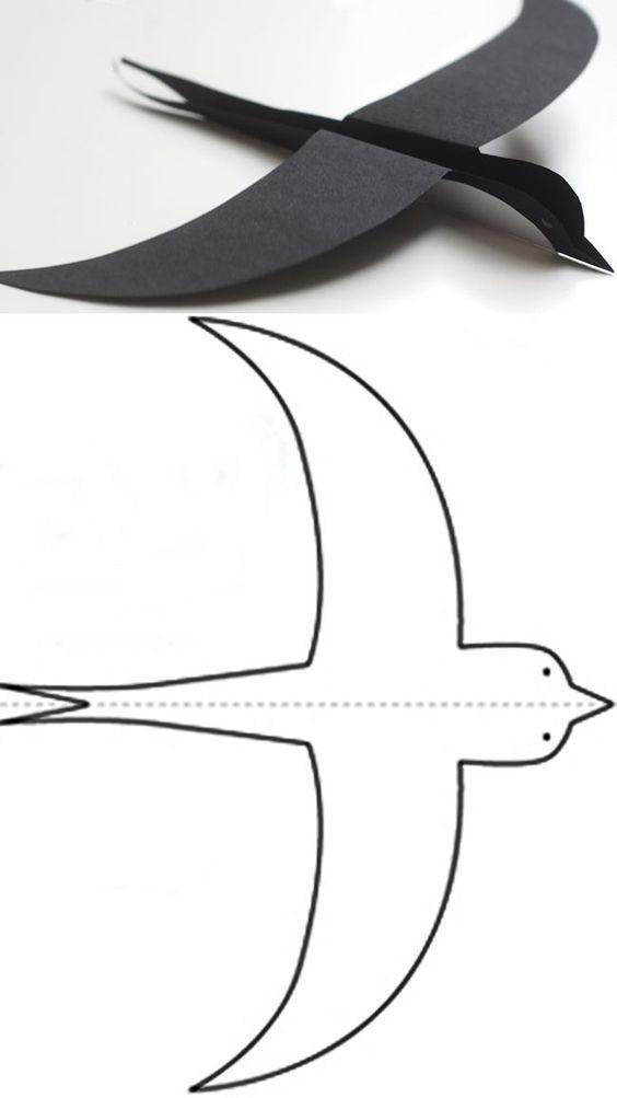 Объемные ласточки из бумаги своими руками схемы