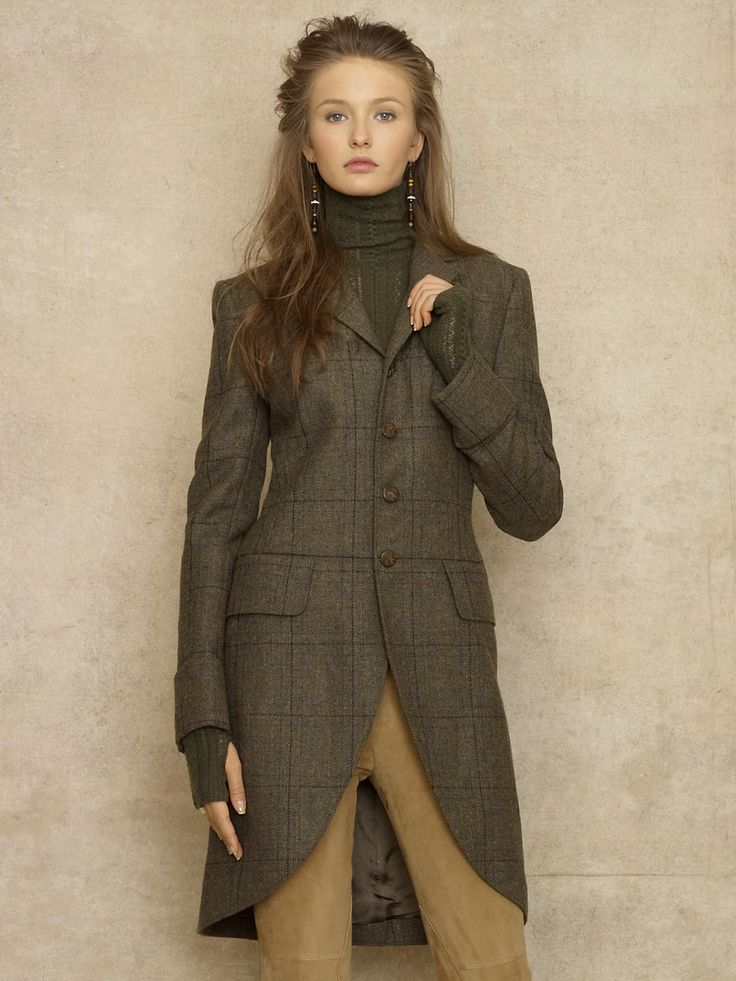 Ralph Lauren Vintage Harrison Tweed Coat