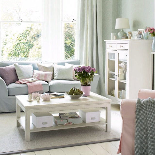 Pink and blue living room dream home d cor pinterest - Blue and pink living room ideas ...