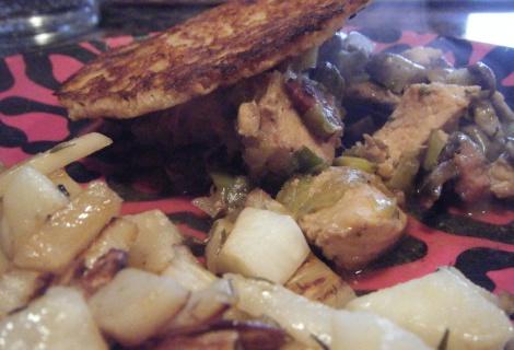 Chicken, Leek, Mushroom and Bacon 'Pie' | LCHF My NEW LIFE ...