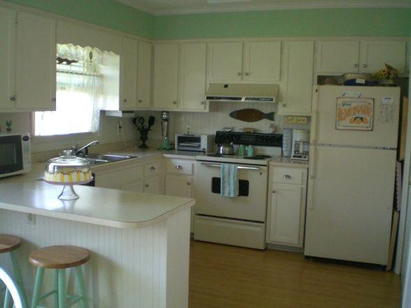 Vintage Style Beach Cottage Kitchen Attractive Rooms Pinterest