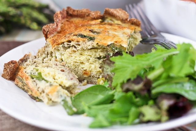 Asparagus and Cheese Quiche - Crust In, Grains Out! - The Healthy ...