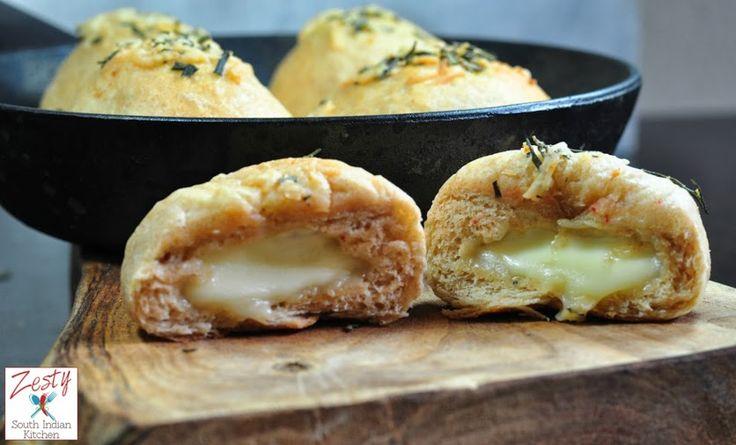 Gooey mozzarella stuffed dinner rolls. Made with 30% white whole wheat ...