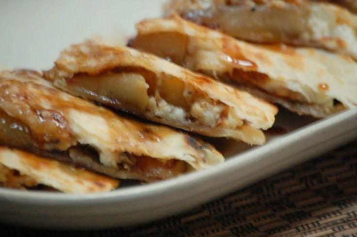 Desserts - Peach and Ricotta Quesadillas