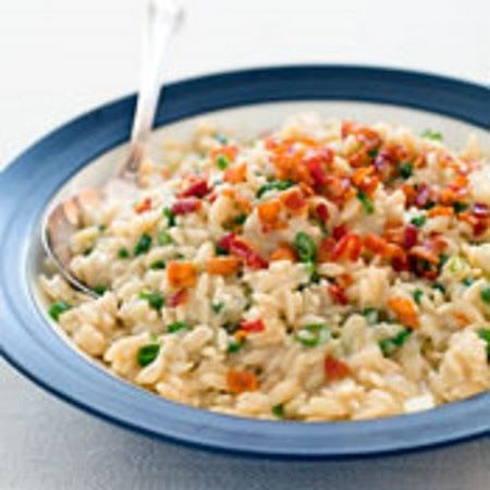 Creamy Orzo with Peas and Parmesan | Food and Drinks | Pinterest