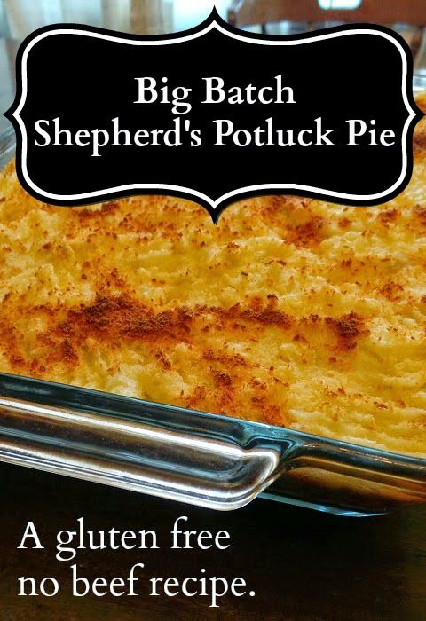 Big-Batch Shepherd's Potluck Pie, a gluten free no beef recipe ...