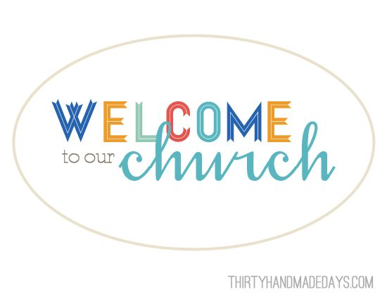 Welcome to the Ward Printable | FHE & Church | Pinterest