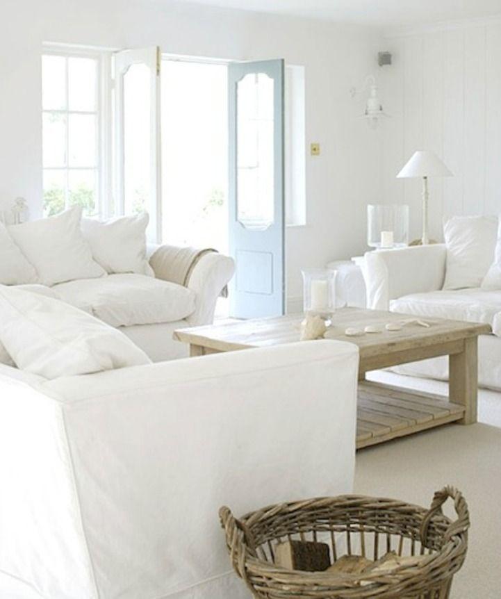 White Slipcover Sofas Family Living Room Pinterest