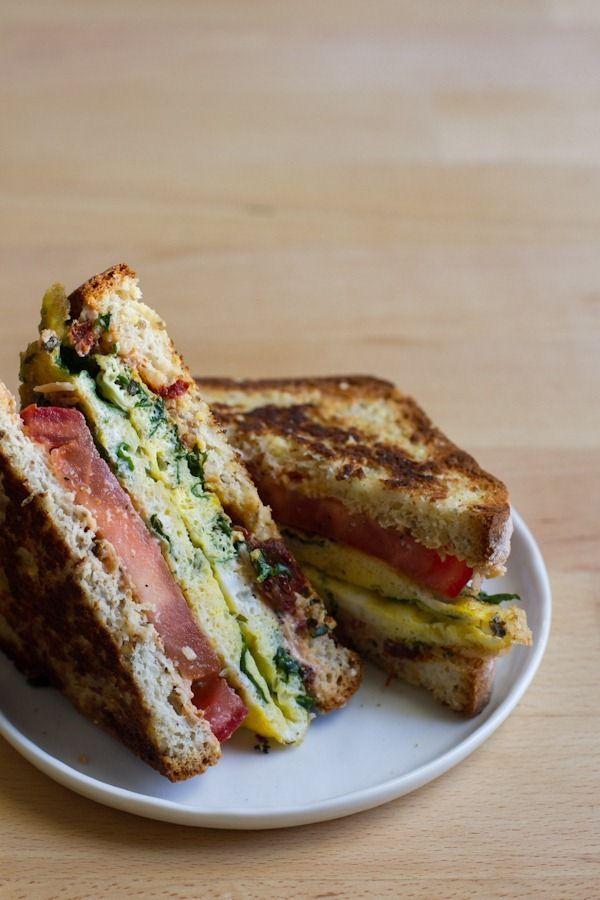 Kale, Egg and Sun Dried Tomato Sandwich. | The tummy filler | Pintere ...