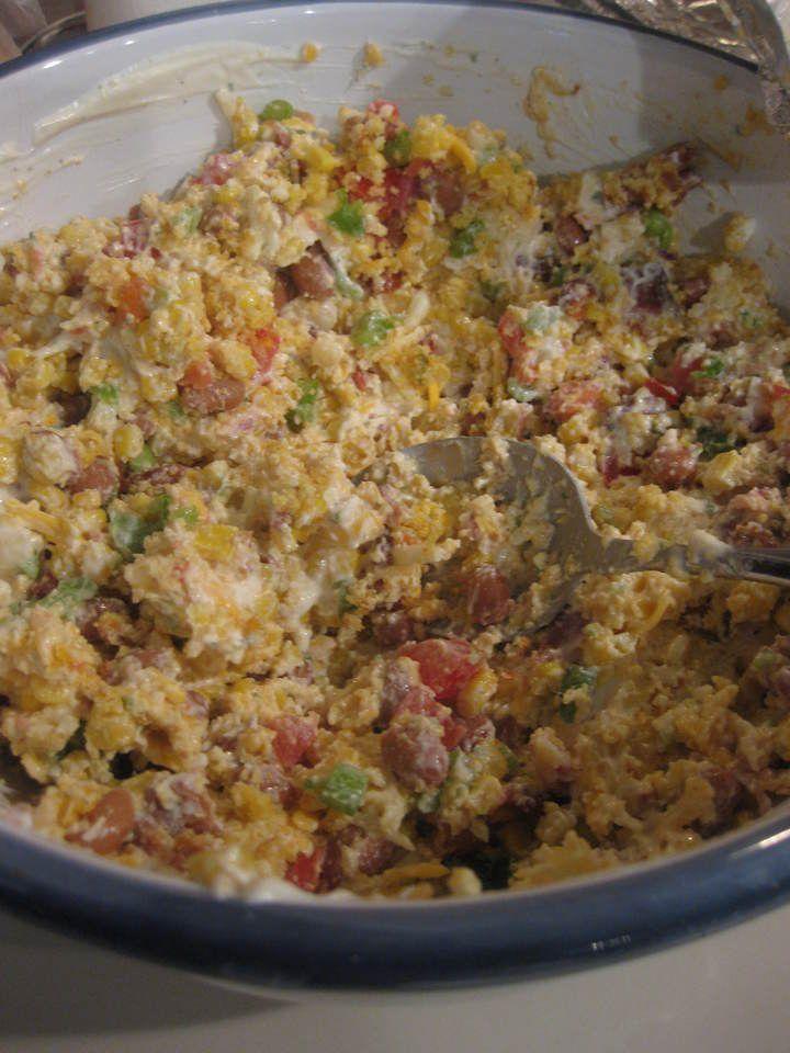 Cornbread Salad: I made real buttermilk cornbread in a cast iron ...