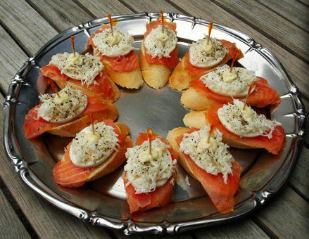 tapas salmon con huevos | f o o d | Pinterest