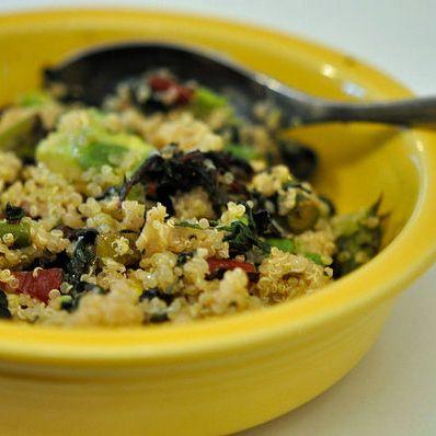 Chard, Avocado, Asparagus Quinoa
