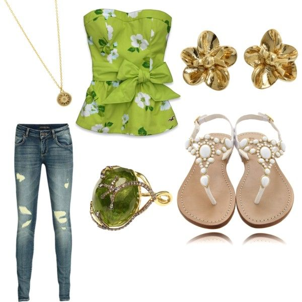 Summer night outfit, created by redsparkle09 on Polyvore