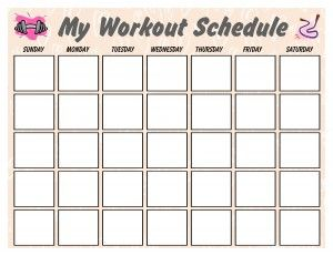 Pretty Pink Calendar helping put those workouts on a schedule