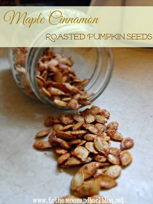 Maple Cinnamon Roasted Pumpkin Seeds - made these with spicehouse.com ...