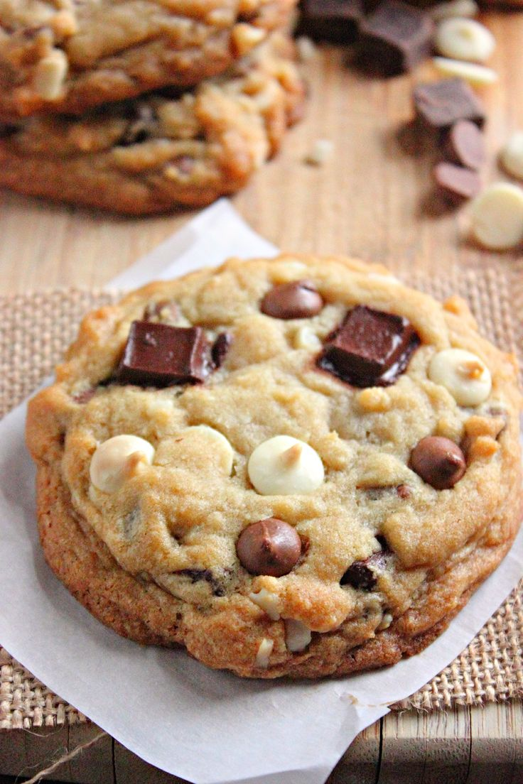Triple Chocolate Chip Cookies | Food | Pinterest