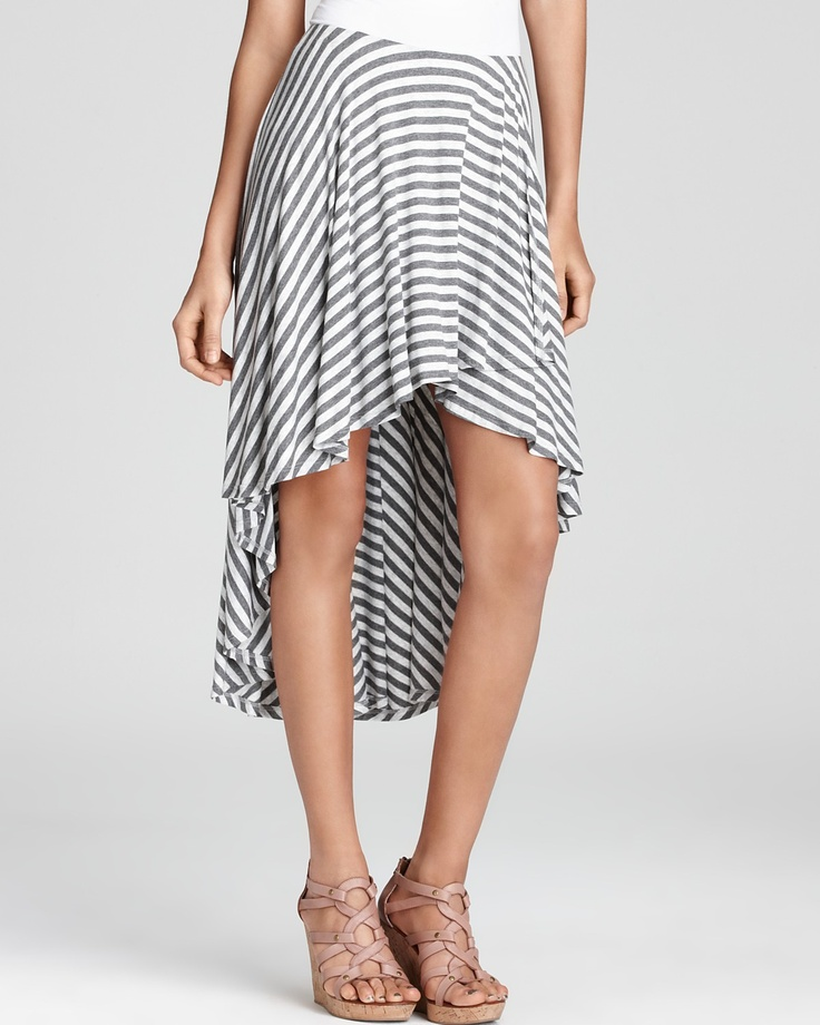 Ella Moss Skirt - Wren Striped High/Low | Bloomingdale's