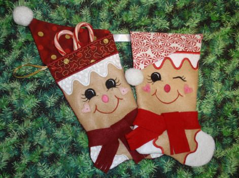 Cute no sew Christmas stockings. | crafty | Pinterest