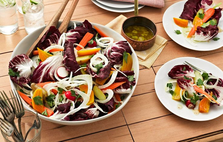 Root Veg Salad with Bagna Cauda Dressing by Kashi