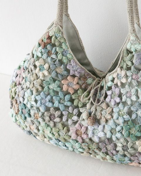 Flower Crochet Bag : ... Digard 2013 FREESIAS HANDBAG -::- Crochet bags & purses