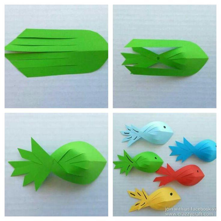 Рыбка из бумаги своими руками поэтапно