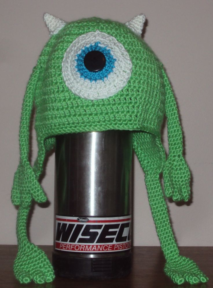 Mike Wazowski, Monsters Inc Crochet Hat Crochet ...