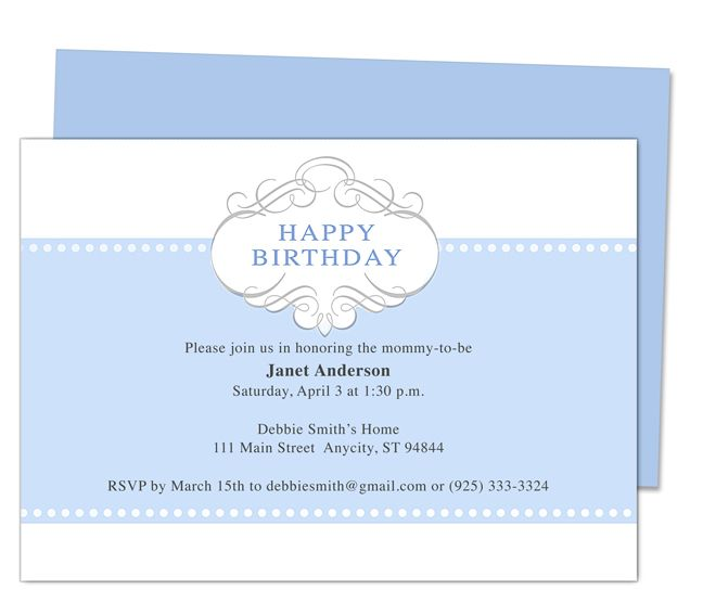 Prince 1st Birthday Invitation Templates edits with Word, OpenOffice ...
