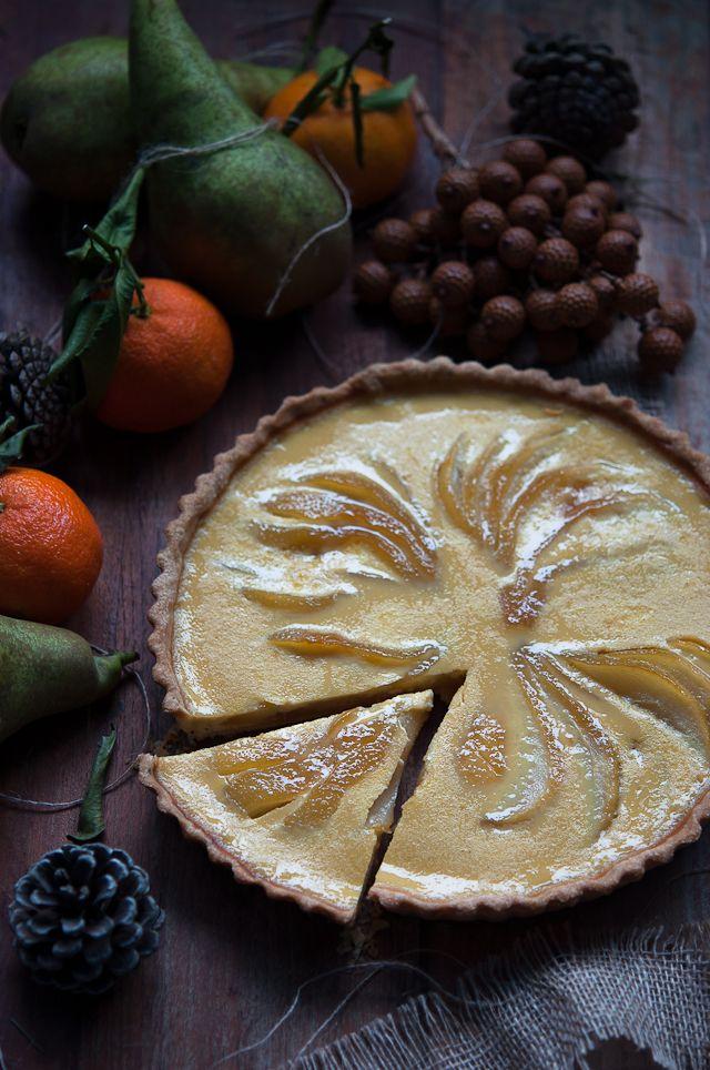 ... pear and orange custard tart with rosemary crust | Gourmantine