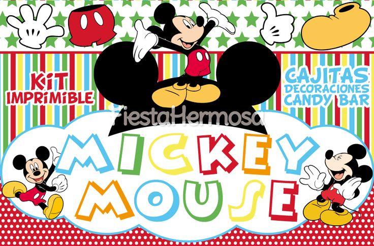 Mickey Mouse Decoraciones Para Fiestas ~ Mickey Mouse Decoraciones De Fiesta Para Imprimir, Candy Bar