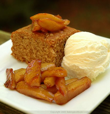 Spiced Honey Cake with Caramelized Apples