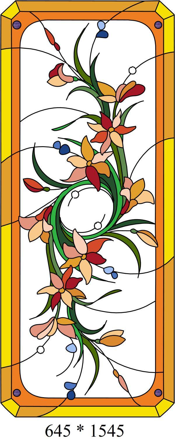 Витраж схемы рисунка в цвете